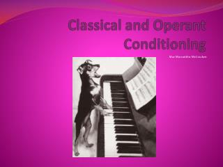 Classical and Operant Conditioning