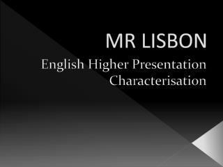 MR LISBON