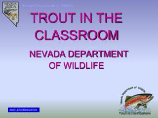 TROUT IN THE CLASSROOM NEVADA DEPARTMENT  OF WILDLIFE