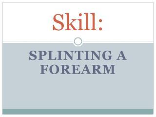 Skill: