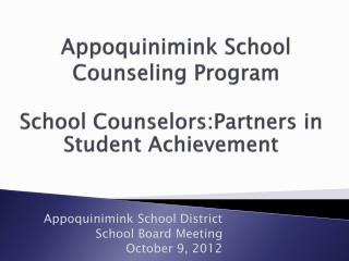 Appoquinimink School Counseling Program