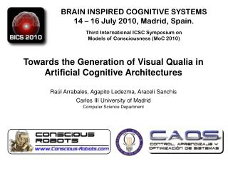 Towards  the  Generation  of Visual Qualia in Artificial  Cognitive Architectures
