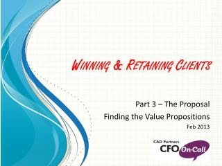 Winning & Retaining Clients