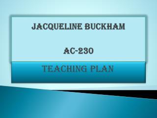 Jacqueline Buckham AC-230