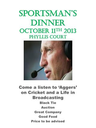 Sportsman's dinner october  11 th  2013 PHYLLIS COURT
