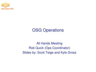 OSG  Operations