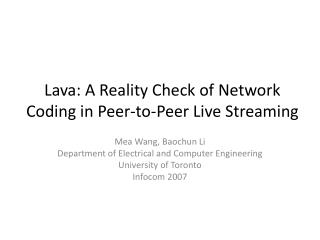 Lava: A Reality Check of Network Coding in Peer-to-Peer Live Streaming