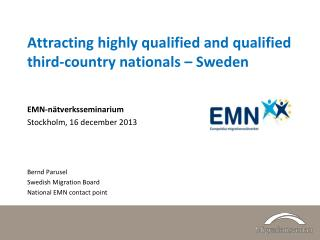 Attracting highly qualified and qualified third-country nationals – Sweden