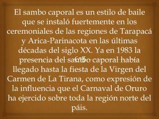 HISTORIA DEL SAMBO CAPORAL