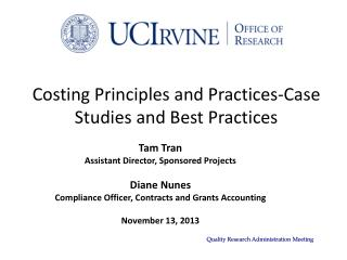 Costing Principles and Practices-Case Studies and Best Practices