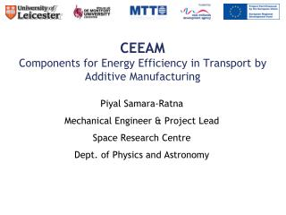 CEEAM  Components for Energy Efficiency in Transport by Additive Manufacturing