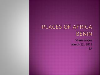 Places of  Africa Benin