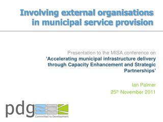 Involving external organisations in municipal service provision