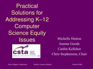 Practical Solutions for Addressing K-12 Computer Science ...