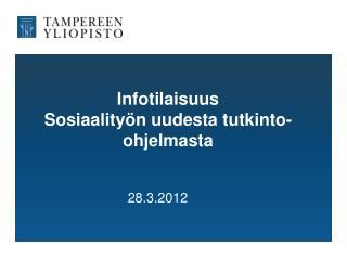 Infotilaisuus Sosiaalityön uudesta tutkinto-ohjelmasta