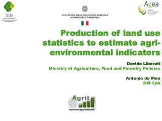 Production  of  land  use  statistics  to estimate agri-  environmental indicators