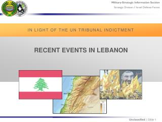 RECENT  EVENTS  IN LEBANON