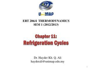 ERT 206/4 THERMODYNAMICS SEM 1 (2012/2013)