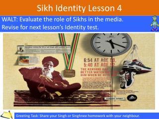 Sikh Identity Lesson  4