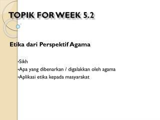 Topik  for  week  5.2