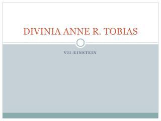 DIVINIA ANNE R. TOBIAS