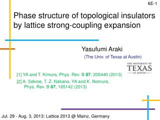 Phase structure of topological insulators by lattice strong-coupling expansion