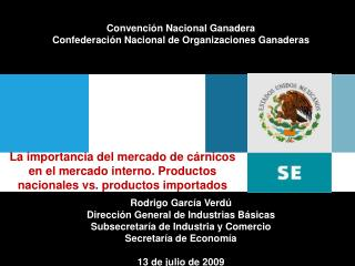 Convención Nacional Ganadera Confederación Nacional de Organizaciones Ganaderas