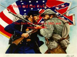 When did the Civil War occur?
