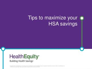 Tips to maximize your HSA savings