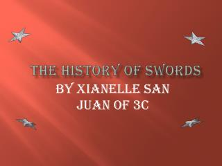 the history of swords