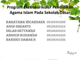 Program  Ekstrakurikuler  Pendidikan Agama Islam Pada  Sekolah  Dasar