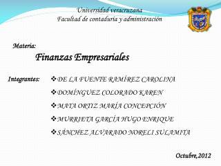 Universidad veracruzana Facultad de contaduría y administración