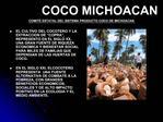 COCO MICHOACAN COMIT  ESTATAL DEL SISTEMA PRODUCTO COCO DE MICHOACAN