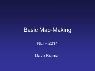 Basic Map-Making