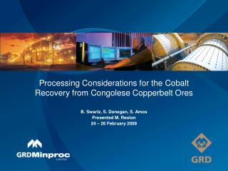 Processing Considerations for the Cobalt Recovery from Congolese Copperbelt Ores