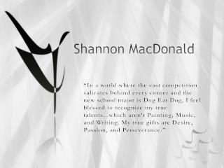 Shannon MacDonald