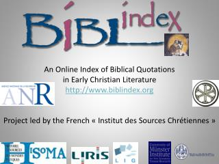 An  Online Index  of  Biblical  Q uotations in Early Christian Literature biblindex