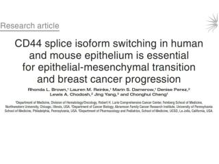 Regulated Splicing Changes are Associated with Tumor Type and Grade
