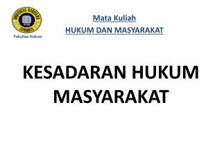KESADARAN HUKUM   MASYARAKAT