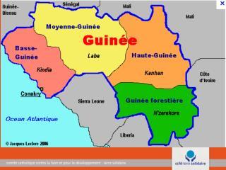 1. Présentation de la  République  de Guinée Conakry