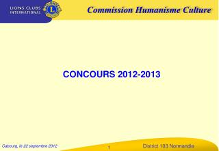 CONCOURS 2012-2013