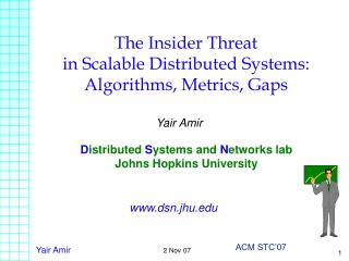 The Insider Threat  in Scalable Distributed Systems: Algorithms, Metrics, Gaps