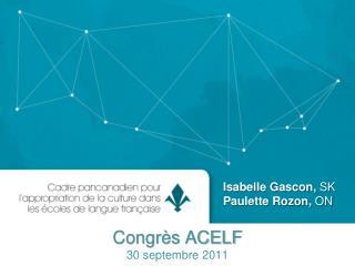 Congrès ACELF 30 septembre 2011