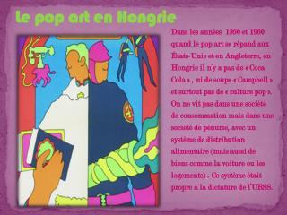 Le pop art en  Hongrie