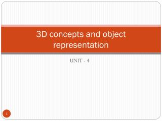 3D concepts and object representation