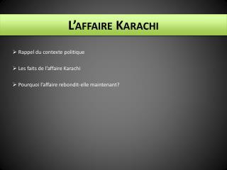 L'affaire Karachi