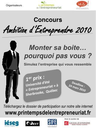 Concours Ambition d�Entreprendre 2010