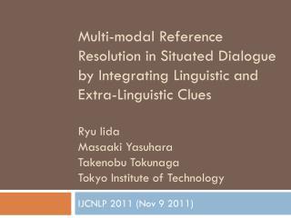 IJCNLP 2011 (Nov 9 2011)