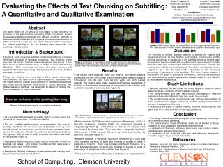 Evaluating the Effects of Text Chunking on Subtitling: A Quantitative and Qualitative Examination
