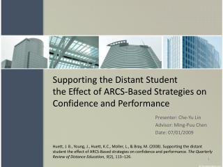 Supporting the Distant Student the Effect of ARCS-Based Strategies on Confidence and Performance